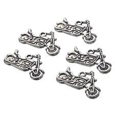 30X Silver Tone Motorcycle Charm Pendants 24x14mm-Jewellery Making Findings X6P5