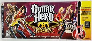 Guitar Hero Aerosmith Playstation 3 Game & Wireless Guitar Controller 2008 NEW