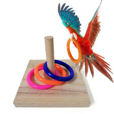 Stacking Bird Chew Toy Intelligence Training Gym Parrot Tabletop Wooden Gnawing