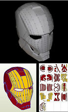 HELMET IRON MAN. PLANOS CASCO MARK VI. ESCALA 1:1 _MARVEL, COMIC - COPIA DIGITAL