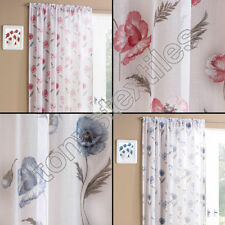 Farmhouse Polyester Floral Ready Made Curtains & Pelmets