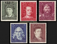 EBS Generalgouvernement 1944 Cultural Figures set Michel 120-124 MNH**
