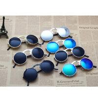 Women Vintage Round Metal Frame Flip Up Men Sunglasses Glasses Eyewear Lens