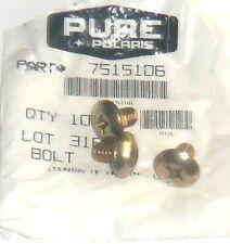 Polaris Pure Oem Nos Atv Snowmobile Pwc Bolt Pack Of Three 3 7515106