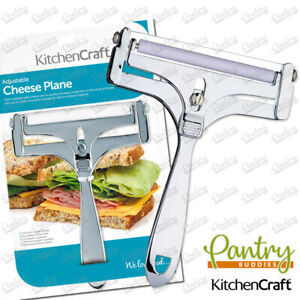 Kitchen Craft Deluxe Cheese Planer Adjustable Thickness For Cheese Cutter Slicer