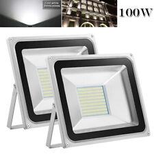 2X 100W LED Flood Light Cool White Outdoor Landscape Spot Lamp Floodlights IP65