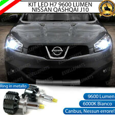 KIT FULL LED H7 PER NISSAN QASHQAI J10 RESTYLING 6000K 9600 LUMEN + PORTALAMPADE