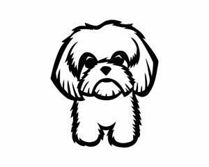 shih poo Shi Puppy VINYL DECAL Car Sticker Pet Dog Collar Animal Cute