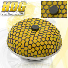 Universal Induction Air Filter Mushroom Mesh Cold Yellow Performance 3