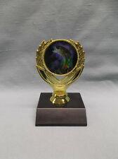 FISH trophy full color insert gold trophy award black marble base