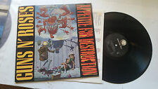 GUNS N' ROSES appetite for destruction banned cover LP '87 w/lyric inner uncenso