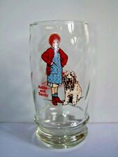 ANNIE THE MUSICAL VINTAGE DRINKING GLASS 80s (J1)