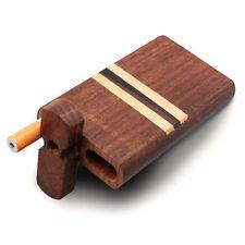 "Classic 4"" Black Stripe Swivel Cap Wooden Tobacco Case - Green Goddess Supply"