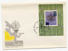 Poland 1962 Anti-Malaria First Day Cover Souvenir Sht #1090 Mosquito Insect Who