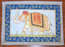 DECORATED ELEPHANT MINIATURE PAINTING FROM RAJASTHAN INDIA!