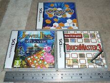 JOB LOT 3 NINTENDO DS DSI 3DS GAMES TOUCHMASTER 3 JEWEL LINK HONEYCOMB BEAT New