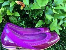 STELLA McCARTNEY Purple Espadrilles Mary Janes Flats Oxfords Womens Shoes Sz 6 @