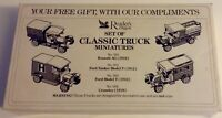 READERS DIGEST SET OF CLASSIC TRUCK MINIATURES - 41-558 - COLLECTORS ITEM ONLY