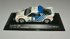 Minichamps 1/43 Ford RS 200 Rally Sweden 1986 Grundel / Melander Rare 1 of 2400