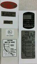 SUZUKI GT250E X7 WARNING DECAL KIT