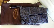SAC BAG POCHETTE TOD`S TODS TOD S T1 18 PYTHON VERITABLE COMME NEUF