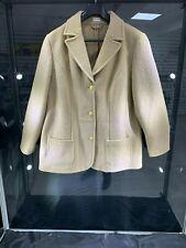Mujer Cálido Abrigo de lana Atelier Talla Plus Botón De Oro Mama sola 100% Lana