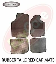 Fiat 500 2012+ Fully Tailored 4 Piece Rubber Car Mat Set with 4 Clips