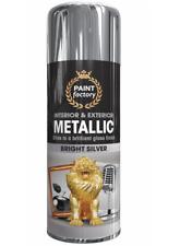 1 x All Purpose Silver Metallic Aerosol Spray Paint Household Car Plastic 400ml