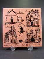 San Juan Puerto Rico 15th Century Religious Architecture Souvenir Tile