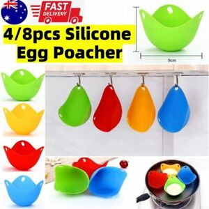 1/4Pcs Silicone Egg Poacher Poaching Pods Pan Poached Cups Moulds For Kitchen