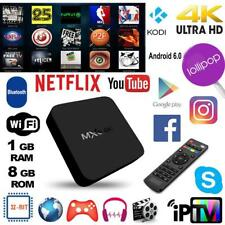 MXQ 4Kx2K Smart TV Box Android 8GB Quad Core WiFi IPTV Network Media Player