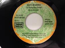 RUDY ROMERO 45: If I Find The Time, 1972 Tiffany Records Promo Mono/Stereo