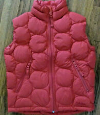 Cabelas PREMIER GOOSE DOWN PUFFER Quilted Vest Youth S/P Coral Color Full Zip