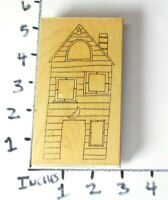 Wooden RUBBER STAMP Lot RubberMoon Dave Brethauer Victorian House