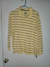 RTY Trademark Polo Long Sleeve Striped Men's Large Rugby Sports Athletic Wear