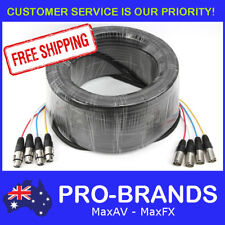 50m 4-Way XLR M-F Male to Female Balanced Cable Core Lead Loom Snake Multicore