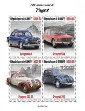 Guinea - 2020 Peugeot Automobile - 4 Briefmarke Blatt - GU200239a