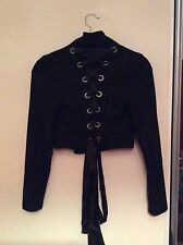 Women's Allsaints fitted corset style riding jacket bow detail size 6