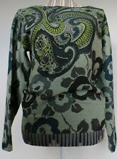 Etro Womens Green Paisley Multicoloured Jumper Sweater Size 46 UK 14 BNWT