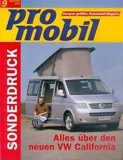 VW California Sonderdruck pro mobil 9/03 reprint 2003 Reisemobil Wohnmobil Auto
