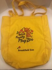 """Brookfield Zoo Hamill Family Play Yellow Shoulder Tote Bag Shopper 10"""" H x 13"""" W"""