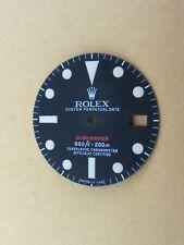 ~Vintage Rolex #1680RED SubmarinerRARE Matte Black Repaired Dial~