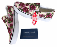 VANS CLASSIC SLIP ON (ROMANTIC FLORAL) PINK CANVAS SHOES SZ 8 WOMENS NEW NIB⚡️