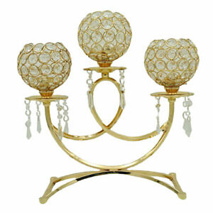 Vintage Gold Mosaic Candle Holder Candlestick for Decorative Party Ornaments
