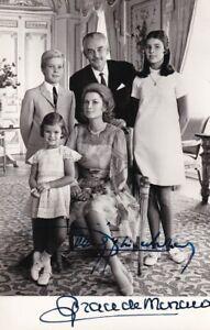 Gracia Patricia und Rainier III. - Fürst/Fürstin de Monaco - original signiert