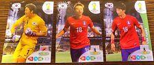LOT 3 Panini Adrenalyn XL BRAZIL World Cup 2014 KOREA TEAM  FROM ARGENTINA