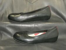 Fitflop Due women's black pebbled leather pump wedge shoes size EU 41, US 10.5