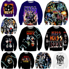 Rock Kiss Band 3D print Casual WomensMens Hoodies Casual Pullover Sweatshirt Top