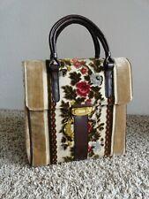 New listing Vtg Carpet Bagger 1950'S Handbag Tapestry & Footed classic