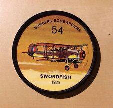 Jello Pane Wheels Bombers # 54 Swordfish 1935